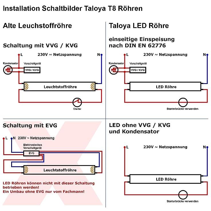 Ungewöhnlich Led Rohr T8 Schaltplan Fotos - Elektrische Schaltplan ...