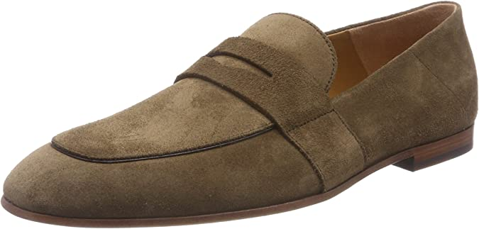 TALLA 42 EU. BOSS Safari_Loaf_SD, Mocasines para Hombre