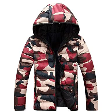 Amazon.com: Winter Jacket Mens Camouflage Soft Shell Mens ...