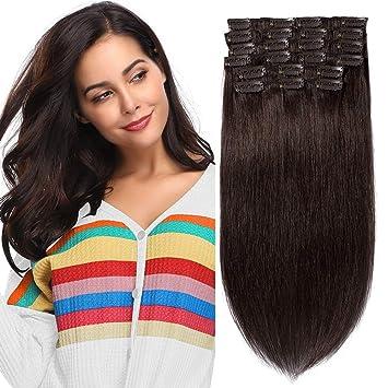 Extension A Standard2 10 En Cher 100Vrai Humain Hair Volume Chatain Fonce14 Cheveux Pcs Naturel Pas Clip Remy Lot NwkOn80PX