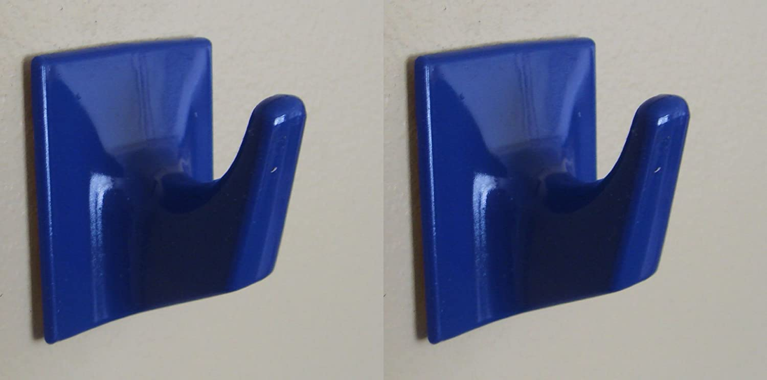 Dark Blue Self Adhesive Hooks - MS57-Square Shaped-Ideal For Tube or Slat Type Blind/Fly Curtain/Strip Blind Holland Plastics (UK) Limited