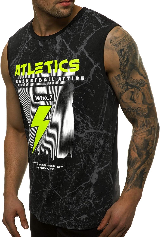 OZONEE Herren Tank Top Tanktop Tankshirt /Ärmellos Bodybuilding Shirt Unterhemd T-Shirt Muskelshirt Achselshirt /Ärmellose Training Gym Sport Fitness Freizeit Rundhals JS//SS11028
