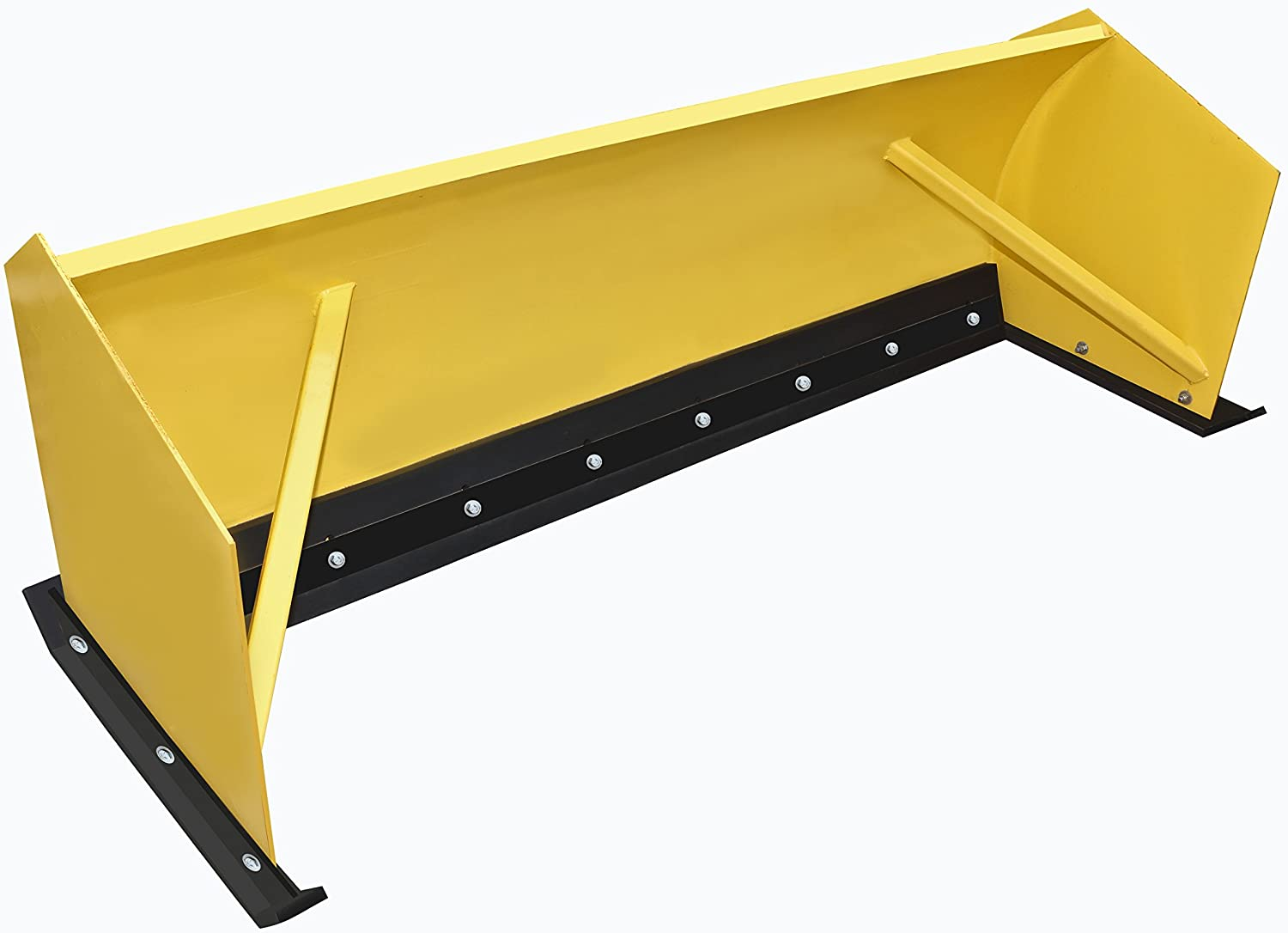 HEAVY DUTY SNOW PUSHER RUBBER 1-1   2 THICK X 10 WIDE X 14FT. LONG PUNCHED STANDARD HIGHWAY SLOTS. SNOW PLOW RUBBER