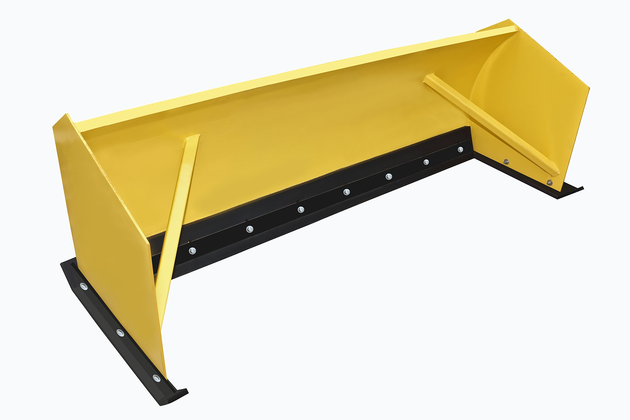 Heavy Duty Snow Pusher Rubber 1-1/2'' thick x 10'' wide x 12 ft. Long punched Standard Highway Slots. Snow Plow Rubber by PlowRubber.com