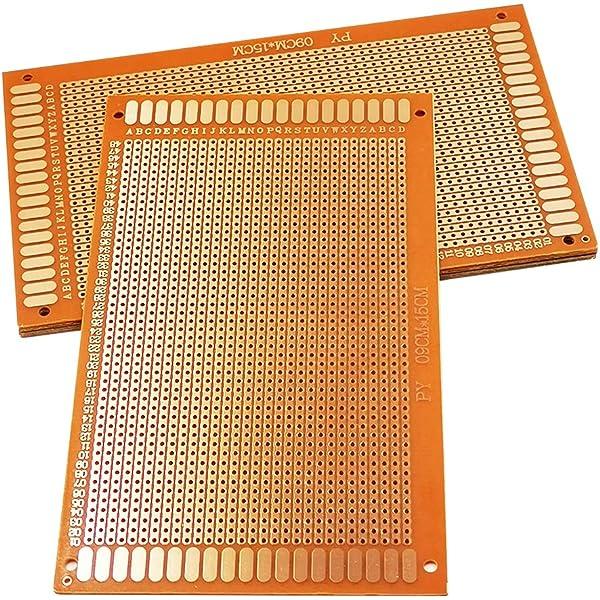 5Pcs Prototype Printed PCB Circuit Board Strip Breadboard For DIY Solderiny1