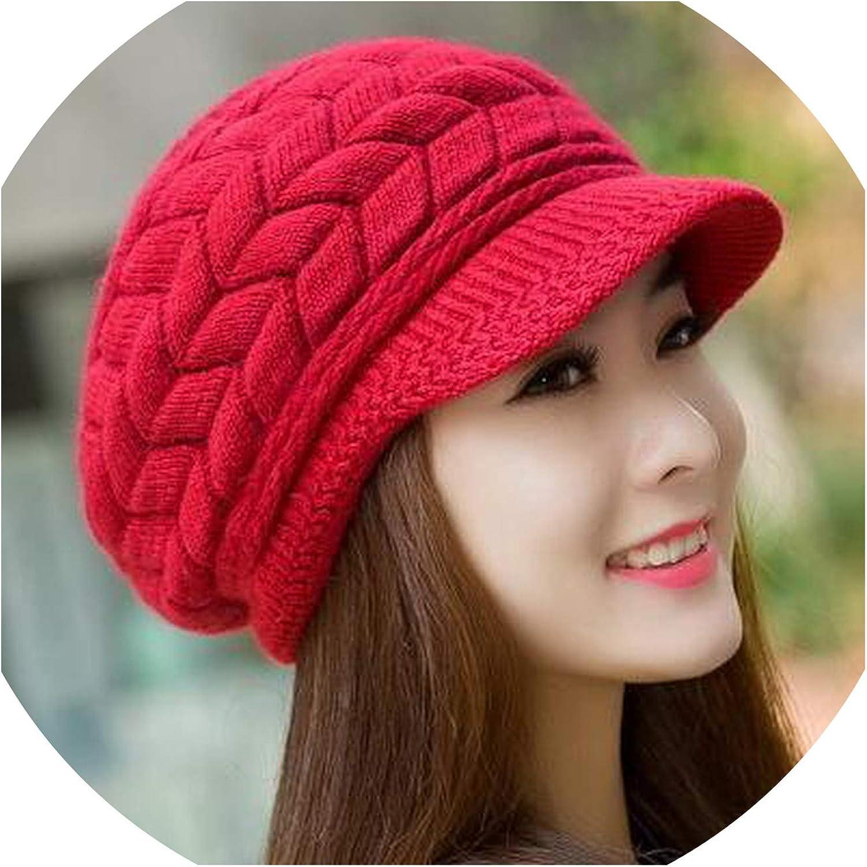 Hat Women Knitted Winter...