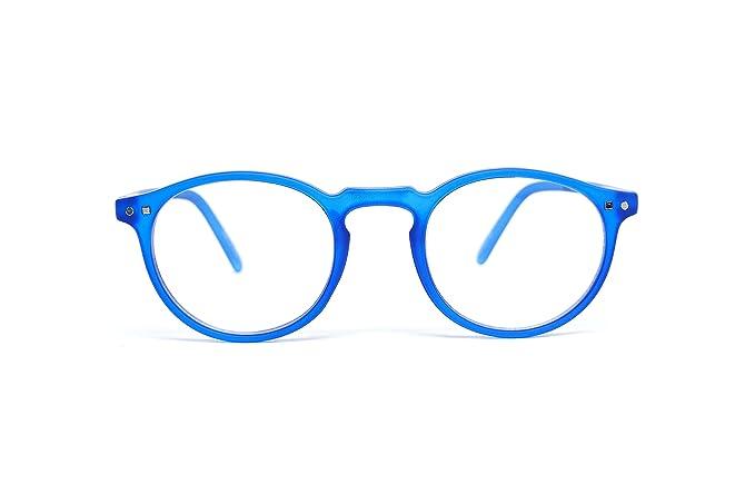 FEEGOO Lunettes de lecture Homme Unisexe Femme graduée de +2.5 dioptries  Petit Rond Cadre Super Light Slim Bleu couleur  Amazon.fr  Hygiène et Soins  du ... fb50a1bd8054