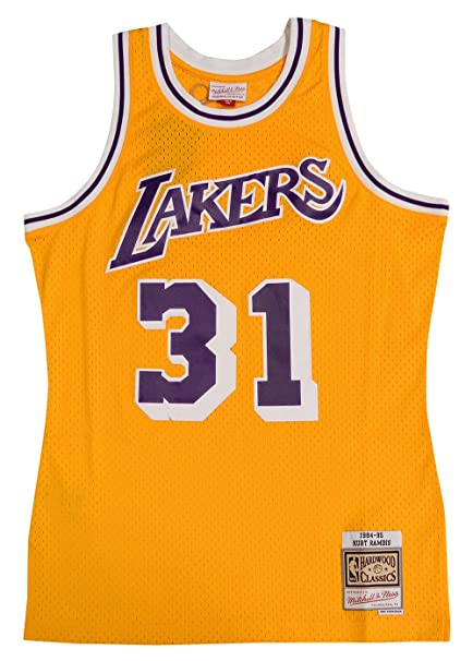 new style 51971 769b6 Mitchell & Ness Los Angeles Lakers Kurt Rambis Swingman Jersey NBA Throwback
