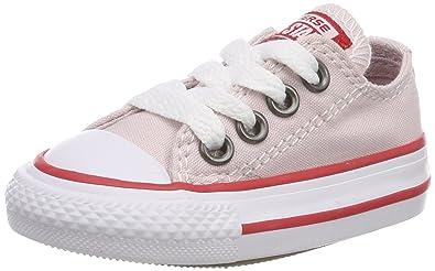 Converse Unisex Baby CTAS Hi Barely Rose/Enamel Red/White Hausschuhe, Pink (Barely Rose/Enamel Red/White 653), 19 EU
