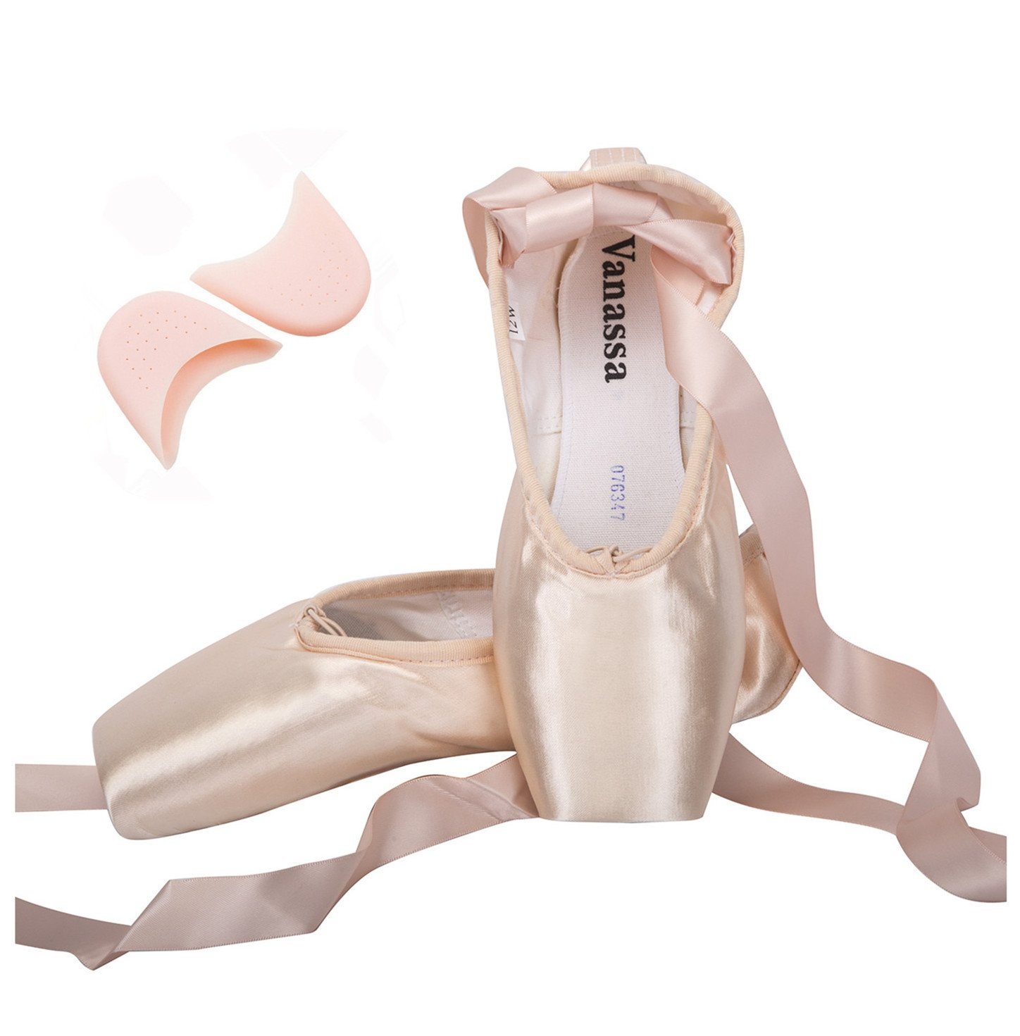 Wendy Wu Girls Womens Dance Shoe Pink Ballet Pointe Shoes (3, 1)