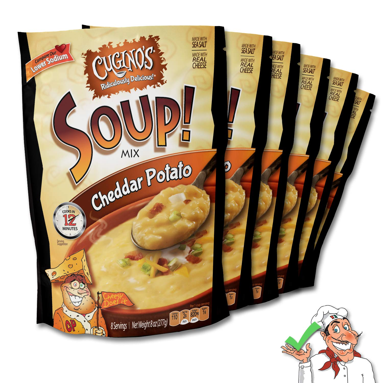 Cugino's Cheddar Potato Soup Mix, 6-Pack