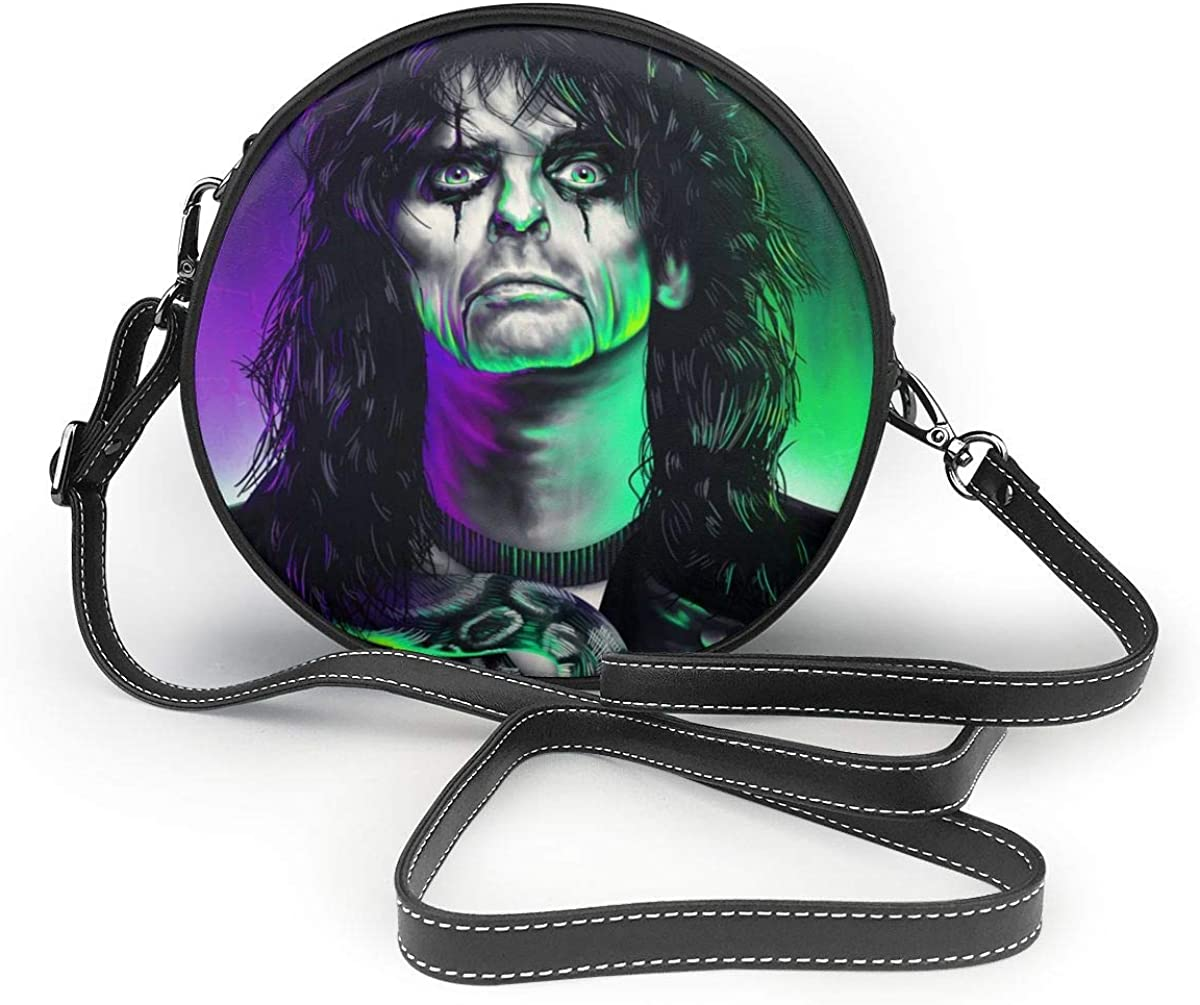 Alice Cooper Personalized Classic Round Shoulder Bag For Carrying Small Handbags