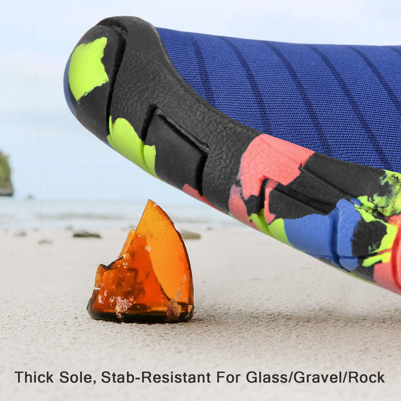 bridawn Water Shoes Women Men Swim Shoes Quick Dry Aqua Socks Slip on for Beach Pool Barefoot Sport Hiking Surfing