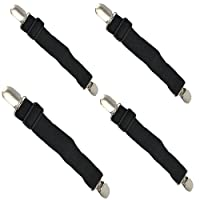 4 Pcs Elastic Bed Mattress Sheet Clips Grippers Straps Suspender Fasteners Holder (4 pcs Black)