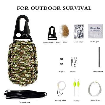 Pulsera de supervivencia magnesio rod-compass para senderismo, campamento arrancador de fuego encendedor,