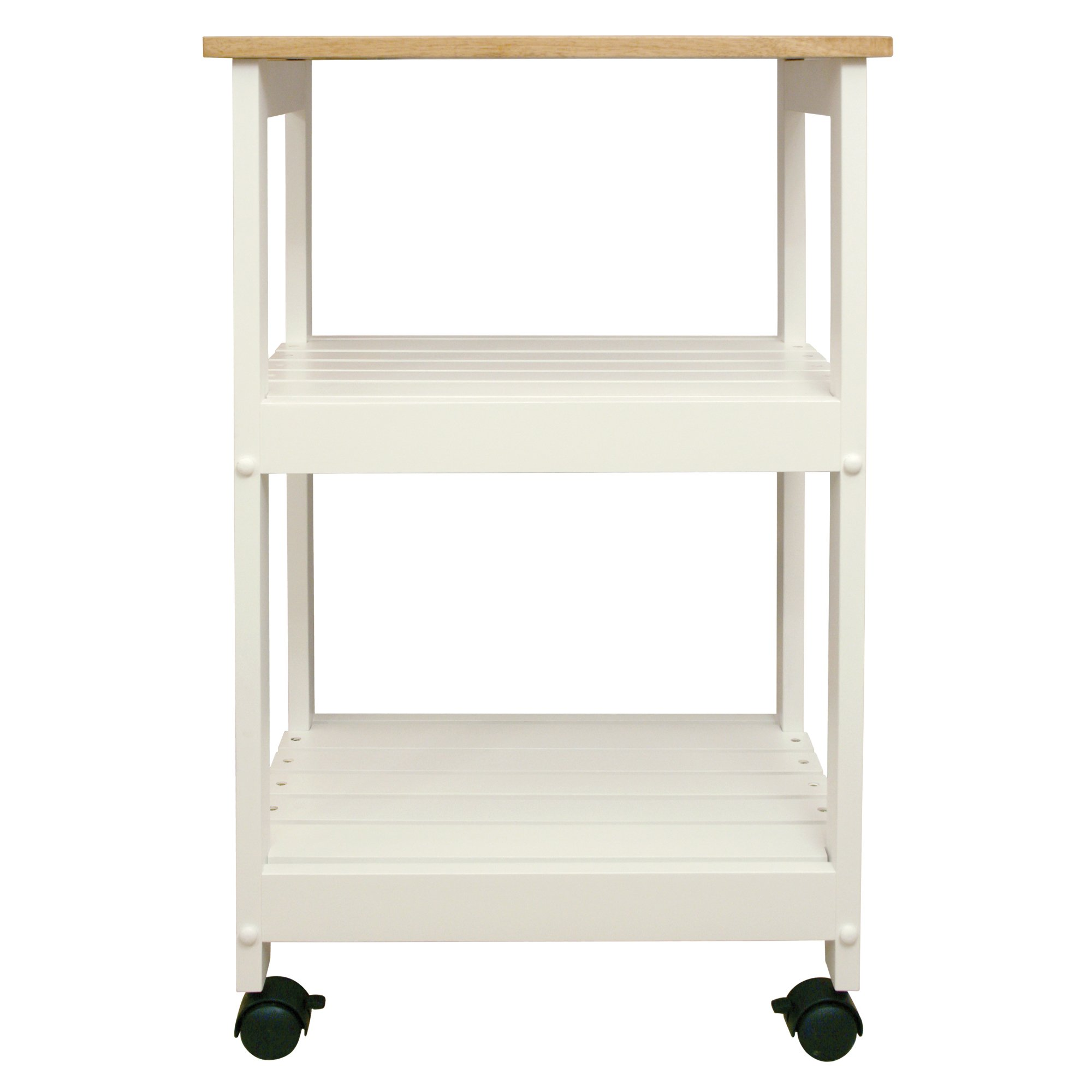 Catskill Craftsmen Utility Kitchen Cart/Microwave Stand, White Base with Natural Top by Catskill Craftsmen (Image #2)