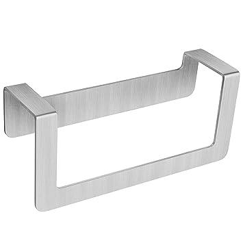 WEISSENSTEIN Toallero de baño Adhesivo | Porta Toallas de Pared de Acero Inoxidable sin Taladro | Medidas: 22 x 7 x 10 cm: Amazon.es: Hogar