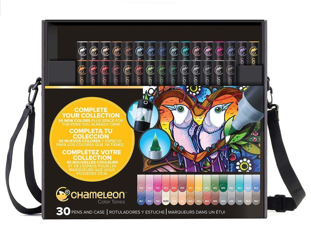 Amazon.com: Chameleon 30 Piece Marker Set with Carry Case ...