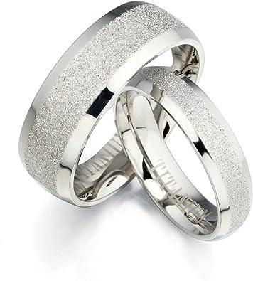 Gemini Free Engrave Groom Bride Beveled Edge Matching Couple