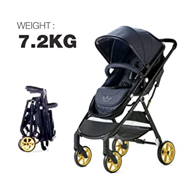 Allis® City Baby 2 en 1 cochecito de bebé para cochecito de bebé - vaquero: Amazon.es: Bebé