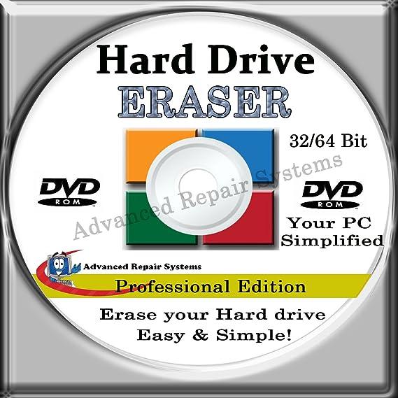 PRO HARD DRIVE ERASER [2017 Edition]: 32 Bit & 64 Bit [Windows - Linux -  Mac]