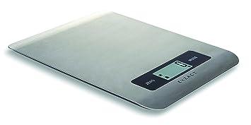 Exzact - Báscula electrónica para Cocina/Plataforma Digital, Acero Inoxidable, Pila Incluidas,