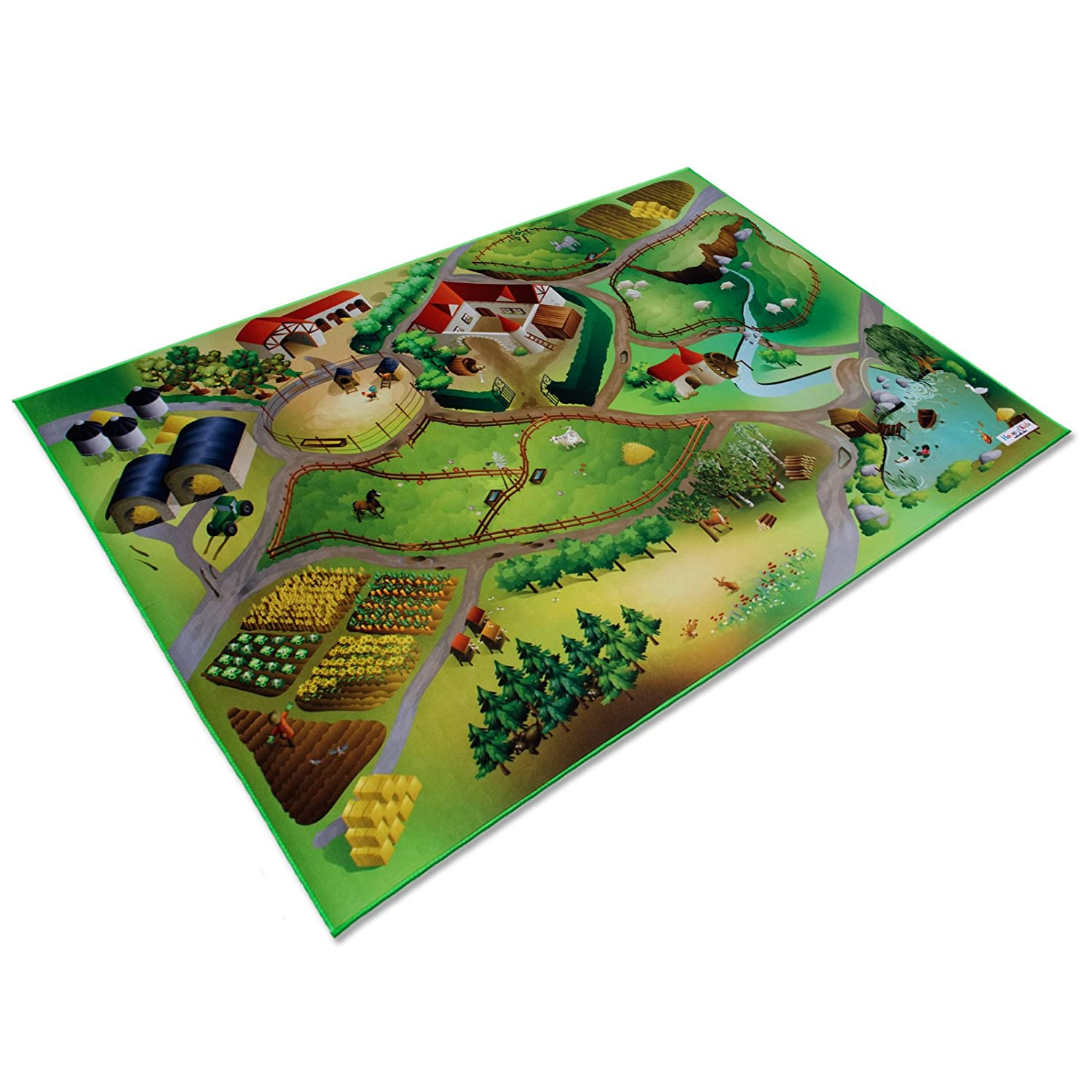 casa pura Interconnectable Childrens Play Mat - 100x150cm | 4 Designs Available - Farm Yard Design