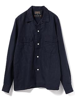 Linen Camp Shirt 11-11-4836-139: Navy