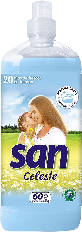 San Suavizante Concentrado Celeste, 60 Lavados - 1440 ml