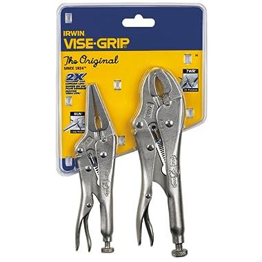 IRWIN VISE-GRIP Original Locking Pliers with Wire Cutter Set, 2 Piece, 36