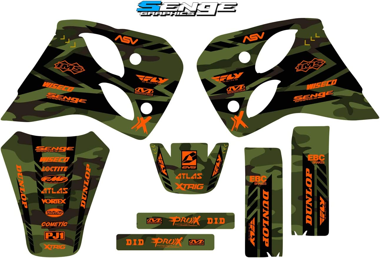 Apache Grey Complete Senge Graphics Kit Compatible with KTM 1993-1997 ALL 4-STROKES