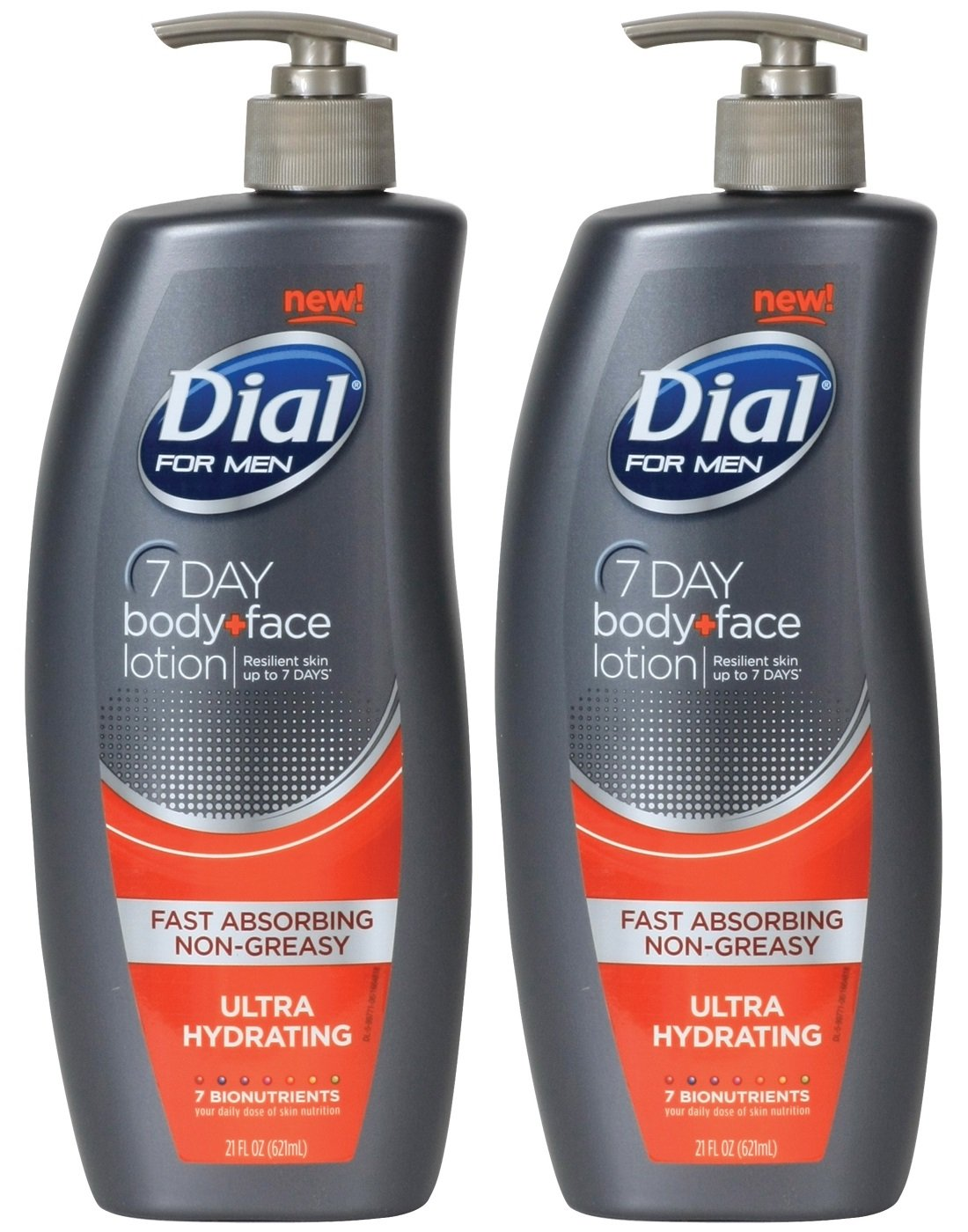 Dial for Men Nutriskin Body and Hand Lotion, Ultra Hydrating, 21 Ounce (Pack of 2) by Dial