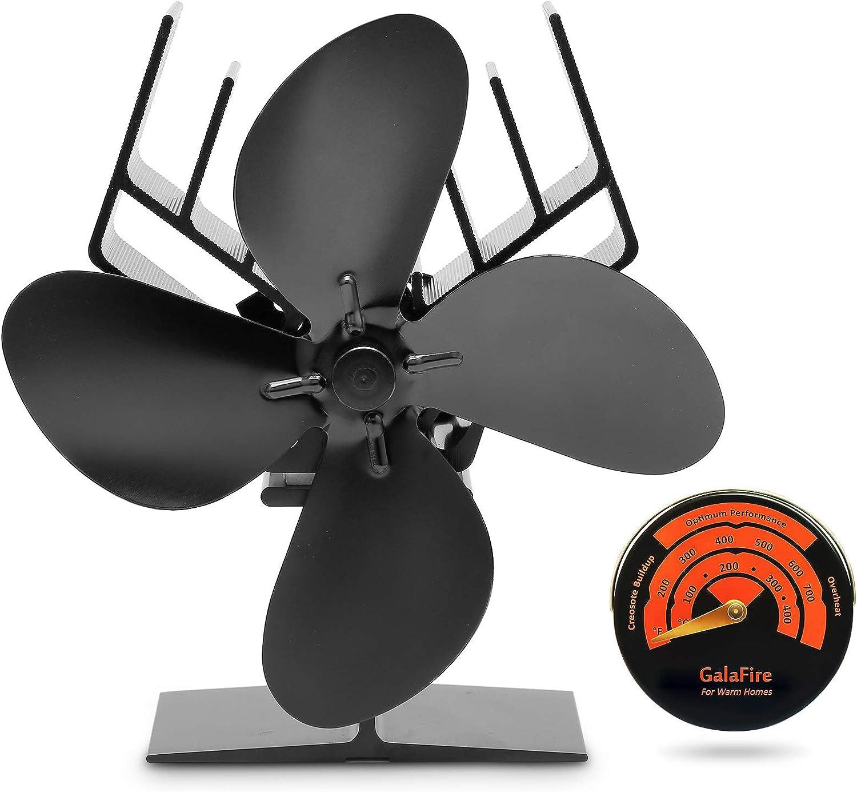Fireplace Fan Wood Stove Fan Fireplace Heat Powered Eco 135*100*192mm J4L5