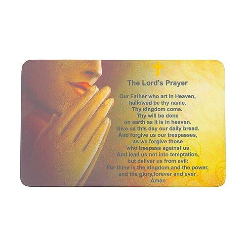 Amazon com: MYOSPARK The Lord's Prayer Wallet Card Insert