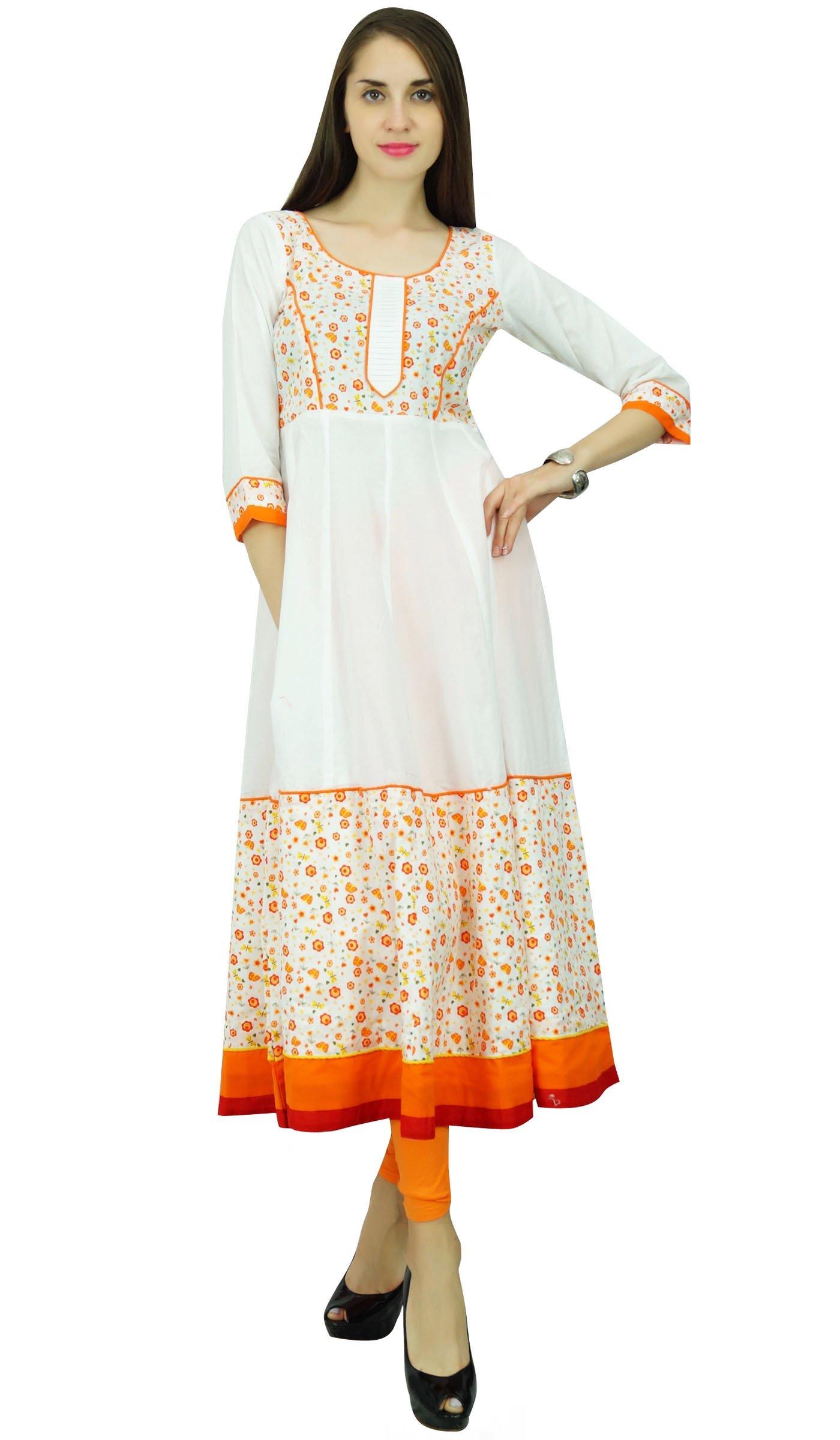 Phagun Paisley Print Cotton Kurta Anarkali Ethnic Kurti Designer Dress