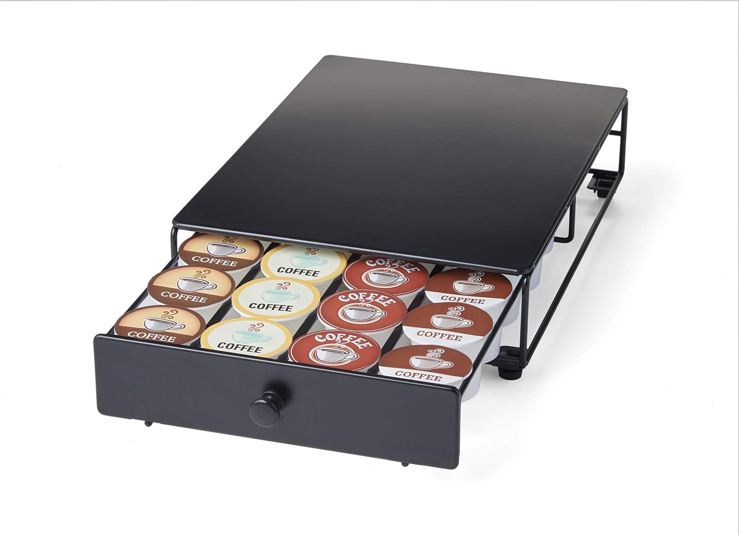 Nifty Home Products 24 Coffee Pod Capacity Storage Drawer Rolling K-Cup Holder, 12.75x8.25x3, Black by Nifty Home Products
