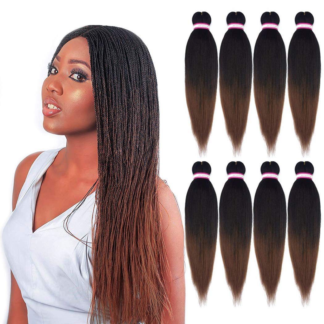 Professional Pre-stretched 100% Kanekalon Ez Braid Beyond Beauty Perm Yaki Texture Itch Free Low Temperature Fiber Jumbo Braids