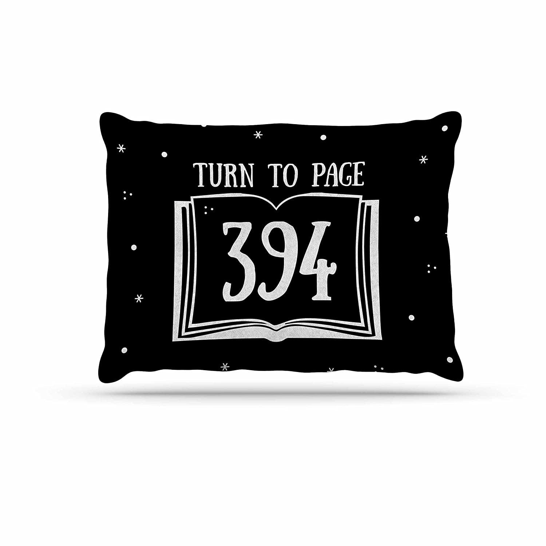 KESS InHouse Jackie pink Swish & Flick Purple Typography Dog Bed, 50  x 40