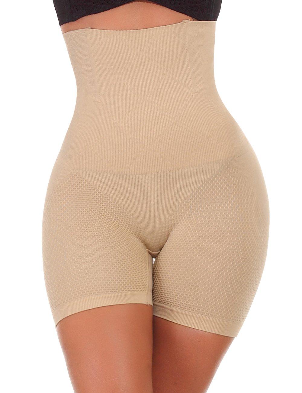 NINGMI Women High-Waisted Tummy Control Bodyshaper Butt Lifter Boyshorts Control Knickers Slimming Briefs NMUK836