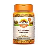 Cinnamon Capsules by Sundown, Support Sugar Metabolism, Non-GMOˆ, Free of Gluten...