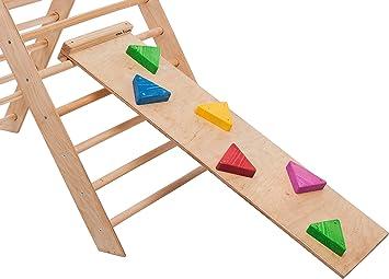 RINAGYM - Escalera de pollo, accesorio para triángulo de escalada (115 x 33 cm)