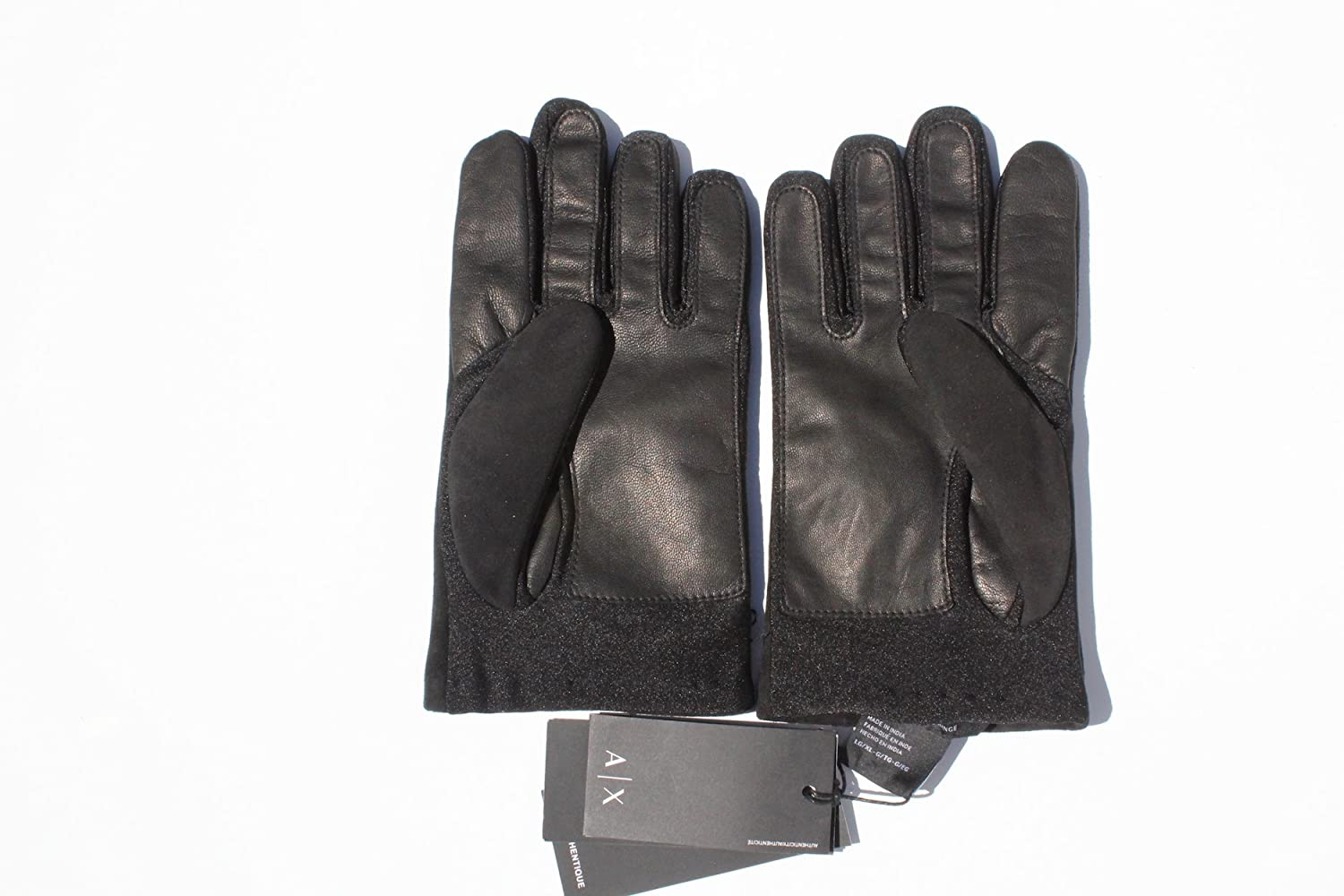 Armani exchange black leather gloves - Armani Exchange Aix Black Genuine Goatskin Suede Leather Gloves Size L Xl At Amazon Men S Clothing Store