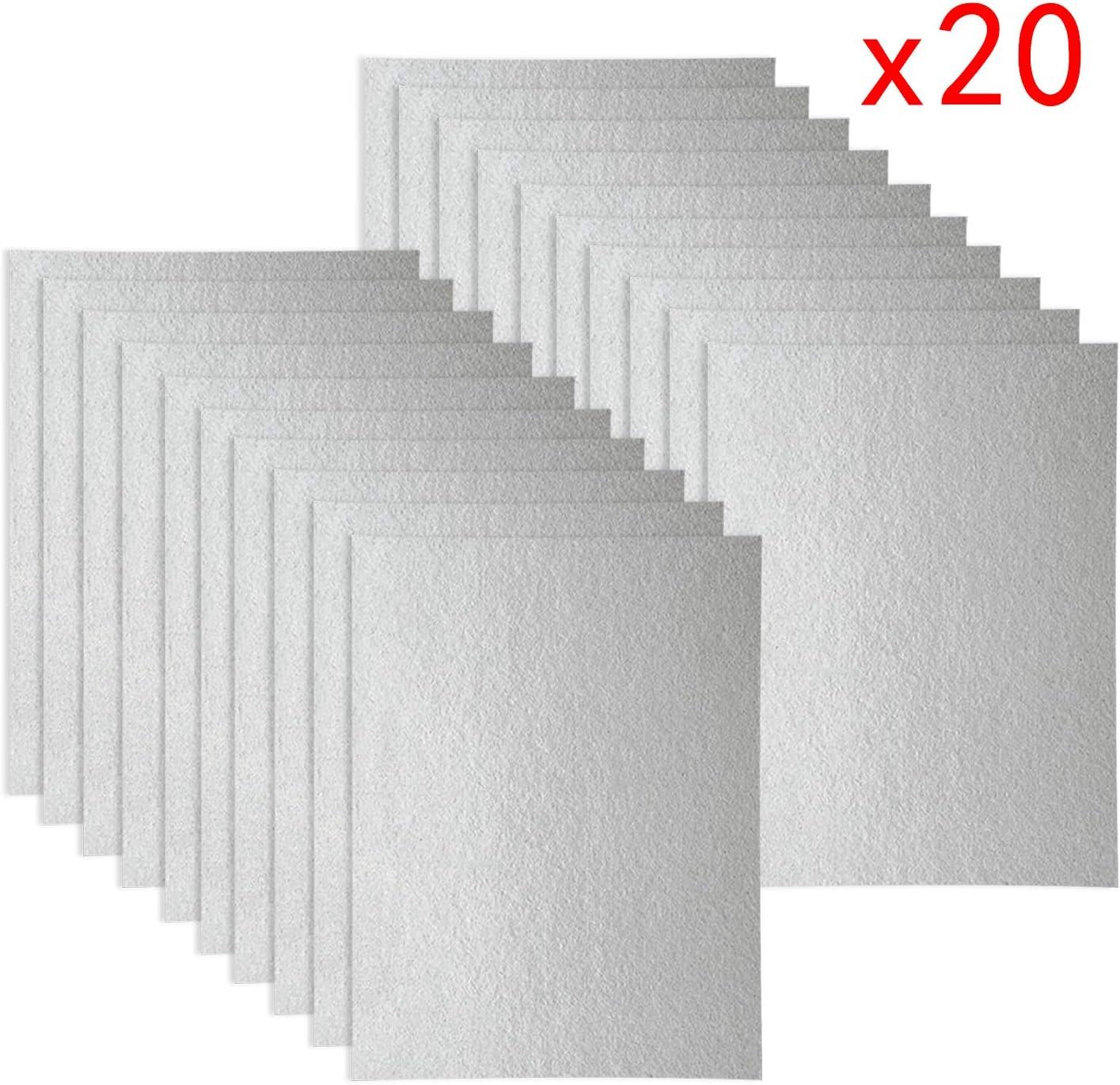 20 fundas de Waveguide, hoja universal para horno microondas, corte a medida, 150 x 120 mm