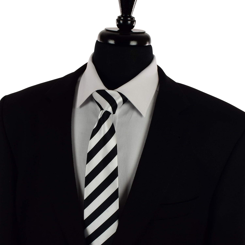 Fashion Studio Para hombre diseño de rayas blanco y negro Tie en ...