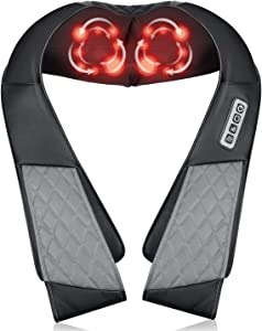 Neck Back Massager, Neck Shoulder Massager with Heat, Electric Neck Massage Pillow 3D Kneading for Shoulder, Back and Neck, Muscles Pain Relief Relax in Car Office and Home, Best Gifts for Mom Dad