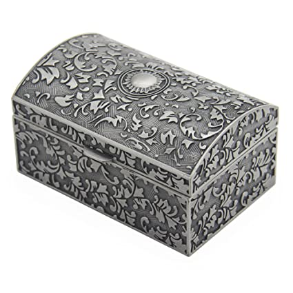 Amazoncom Vintage Metal Jewelry Box Small Trinket Storage