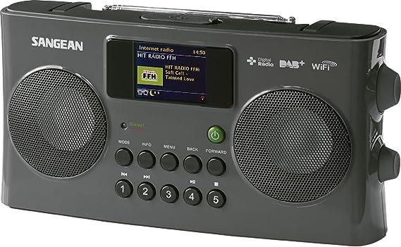 Sangean Wfr 29c Tragbares Internetradio Dab Ukw Tuner Usb Upnp Dmr Music Streaming Aux In Weckfunktion Dual Alarm Anthrazit Audio Hifi
