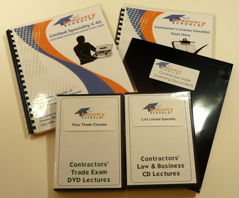 KIT D35 - POOL AND SPA MAINTENANCE for California w/LAW & BUSINESS & Online Practice Exams, Instructors on both DVDs and CDs