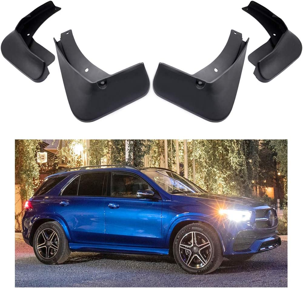 MOERTIFEI Car Mudguard Fender Mud Flaps Splash Guards Compatible with 2020 Mercedes-Benz GLE 350 4MATIC AMG-Line Models w//o Running Boards