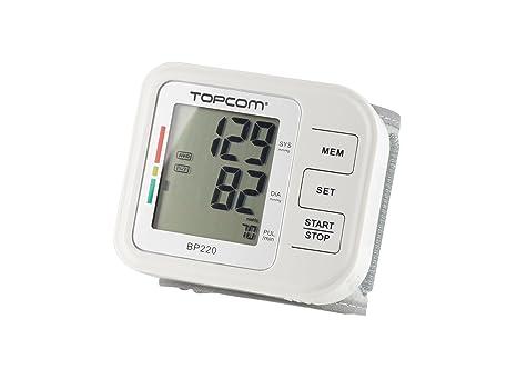 Topcom BD-4620 Muñeca Automático 1usuario(s) - Tensiómetro (AAA NiMH,